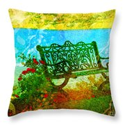 The Lakeview Bench Throw Pillow