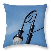 The Lamp Post Throw Pillow