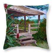 The Lanai Throw Pillow