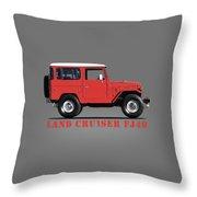 The Land Cruiser Fj40 Throw Pillow