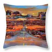 The Land Of Rock Towers Throw Pillow