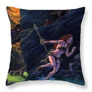 The Land That Time Forgot Throw Pillow