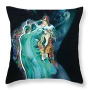 The Landlady Of Copper Mountain Throw Pillow