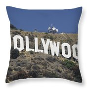 The Landmark Hollywood Sign Throw Pillow