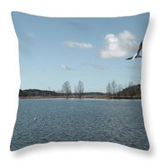 The Landscape Along The Finnish Coast Throw Pillow