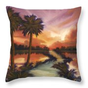 The Lane Ahead Throw Pillow