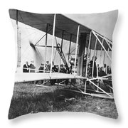 The Langley Airplane Throw Pillow