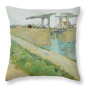 The Langlois Bridge Throw Pillow