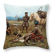 The Laplander Camp At Gleen Throw Pillow