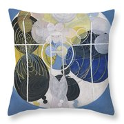 The Large Figure Paintings  No  5 Group 3  Hilma Af Klint 1907 Throw Pillow