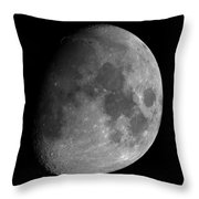 The Largest Moon Photograph Ever Taken From Earth Throw Pillow by Bartosz Wojczynski