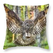 The Largest Owl Throw Pillow