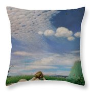 The Lark Throw Pillow by Pal Szinyei Merse