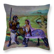 The Last Abduction Throw Pillow