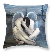 The Last Angel Throw Pillow