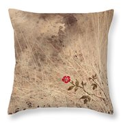 The Last Blossom Throw Pillow