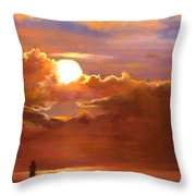 The Last Cast Throw Pillow