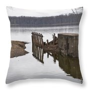 The Last Concrete Wall Throw Pillow
