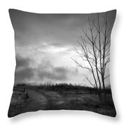 The Last Dawn - Grayscale Throw Pillow