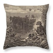 The Last Days Of Harvest Throw Pillow