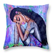 The Last Eve In Eden Throw Pillow