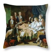 The Last Hours Of Mozart 1756-91 Henry Nelson Oneil Throw Pillow