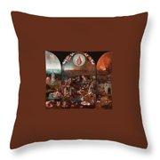 The Last Judgement Hieronymus Bosch Throw Pillow