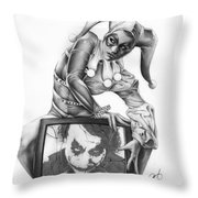 The Last Laugh Throw Pillow by Pete Tapang