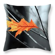 The Last Leaf Throw Pillow