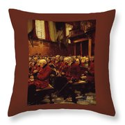 The Last Muster Throw Pillow