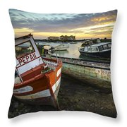 The Last Of A Dying Breed Trocadero Pipe Cadiz Spain Throw Pillow