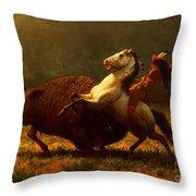 The Last Of The Buffalo Throw Pillow