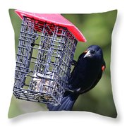 The Last Of The Suet Throw Pillow