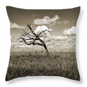 The Last One Standing - Sepia Throw Pillow