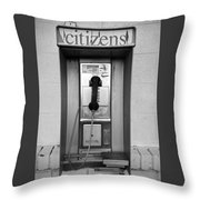 The Last Pay Phone Throw Pillow