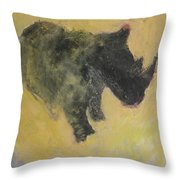 The Last Rhino Throw Pillow