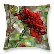 The Last Rose Of Summer Throw Pillow