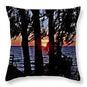 The Last Sun Throw Pillow