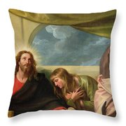 The Last Supper Throw Pillow by Benjamin West