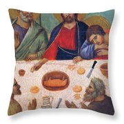 The Last Supper Fragment 1311 Throw Pillow