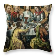The Last Supper Throw Pillow by Godefroy