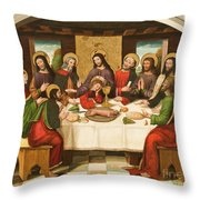 The Last Supper Throw Pillow by Master of Portillo
