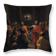 The Last Supper Throw Pillow by Nicolas Poussin