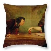 The Last Throw , Charles Robert Leslie Throw Pillow