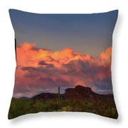 The Last Thunderstorm Throw Pillow