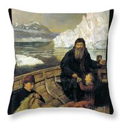 The Last Voyage Of Henry Hudson Throw Pillow