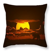 The Last Water Hole Throw Pillow