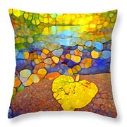 The Leaf At The Creek Throw Pillow