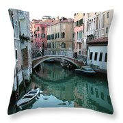 The Leaning Boat Throw Pillow