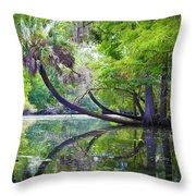 The Leaning Palm Throw Pillow